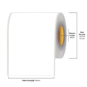 100 mm X 35 metre Inkjet Etiket (Epson Tm-C3500 Etiketi)