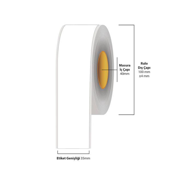 35 mm X 35 metre Inkjet Etiket (Epson Tm-C3500 Etiketi)