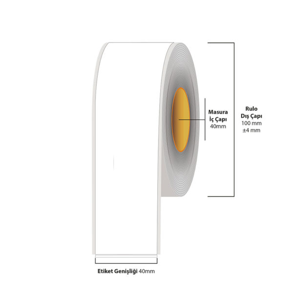 40 mm X 35 metre Inkjet Etiket (Epson Tm-C3500 Etiketi)