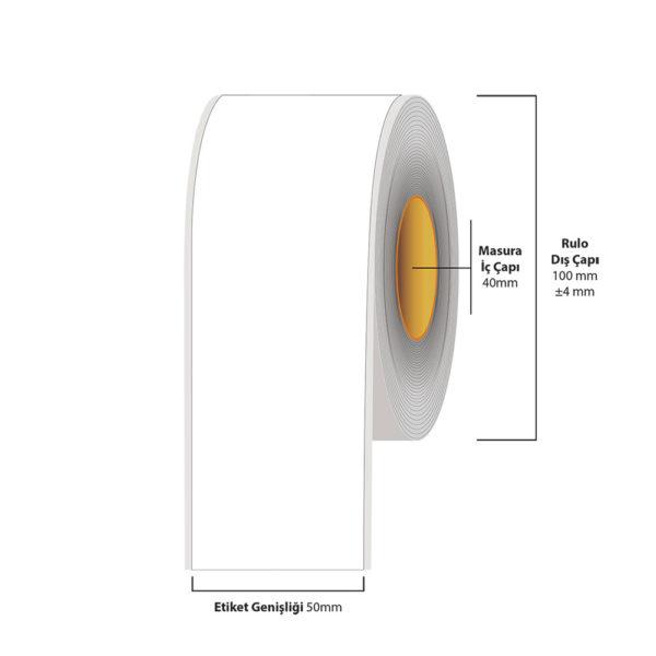 50 mm X 35 metre Inkjet Etiket (Epson Tm-C3500 Etiketi)