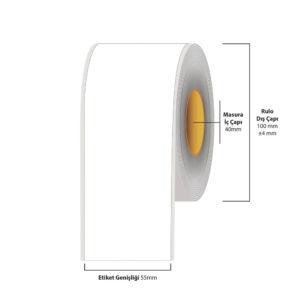 55 mm X 35 metre Inkjet Etiket (Epson Tm-C3500 Etiketi)