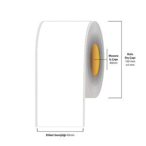 60 mm X 35 metre Inkjet Etiket (Epson Tm-C3500 Etiketi)