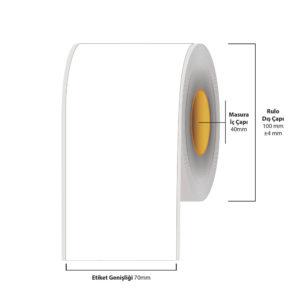 70 mm X 35 metre Inkjet Etiket (Epson Tm-C3500 Etiketi)
