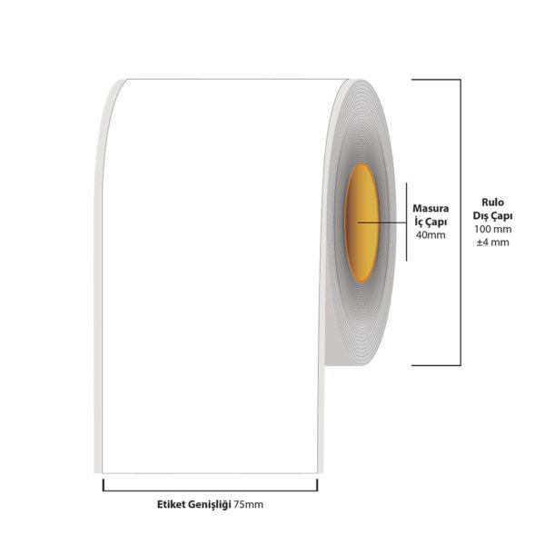 75 mm X 35 metre Inkjet Etiket (Epson Tm-C3500 Etiketi)