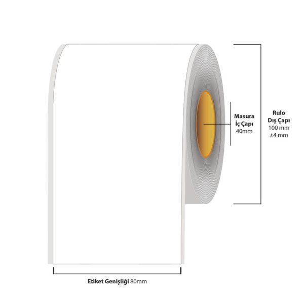80 mm X 35 metre Inkjet Etiket (Epson Tm-C3500 Etiketi)