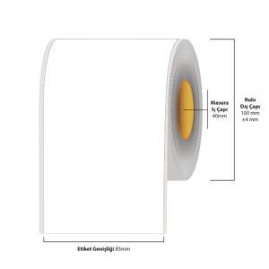 85 mm X 35 metre Inkjet Etiket (Epson Tm-C3500 Etiketi)