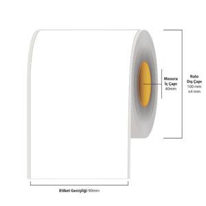 90 mm X 35 metre Inkjet Etiket (Epson Tm-C3500 Etiketi)